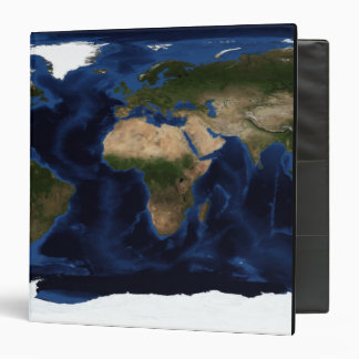 Topographic & bathymetric shading of full earth 3 ring binder
