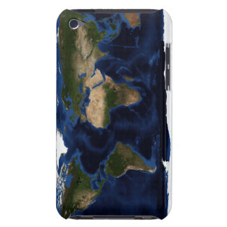 Topographic & bathymetric shading of full earth Case-Mate iPod touch case