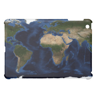 Topographic & bathymetric shading of full earth cover for the iPad mini