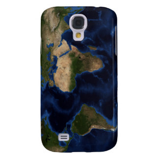 Topographic & bathymetric shading of full earth galaxy s4 cover