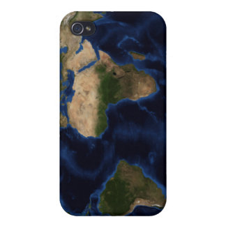 Topographic & bathymetric shading of full earth iPhone 4/4S covers