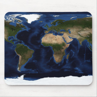 Topographic & bathymetric shading of full earth mouse pad