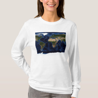 Topographic & bathymetric shading of full earth T-Shirt