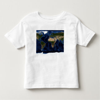 Topographic & bathymetric shading of full earth toddler t-shirt