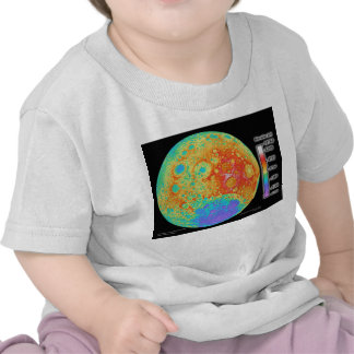 Topographic Color Map of the Moon's Lunar Surface T-shirts