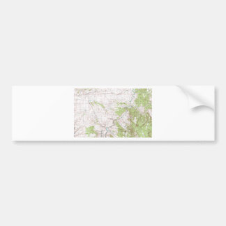 Topographic Map Bumper Sticker