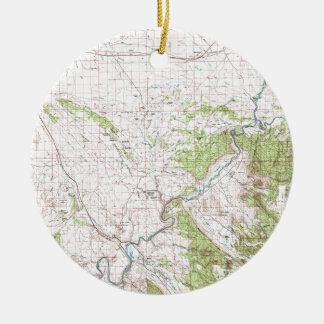 Topographic Map Ceramic Ornament