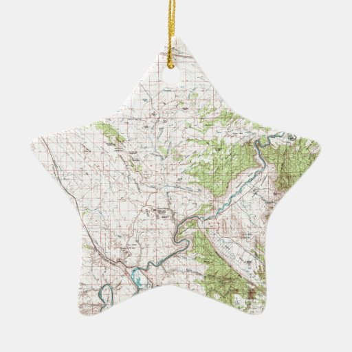 Topographic Map Christmas Ornament