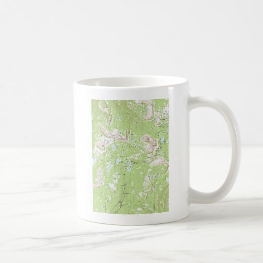 Topographic Map Classic White Coffee Mug