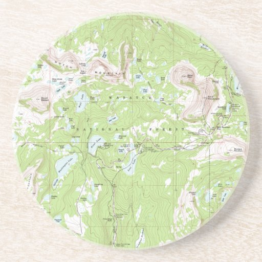 Topographic Map Drink Coasters