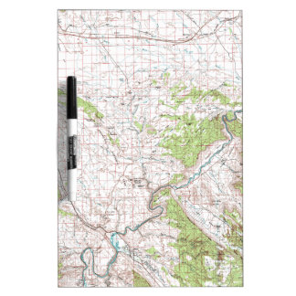 Topographic Map Dry-Erase Board