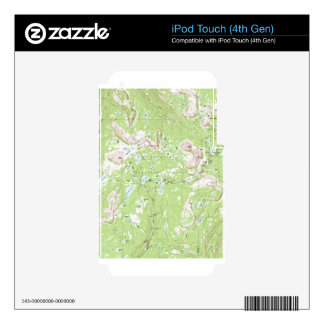 Topographic Map iPod Touch 4G Decal