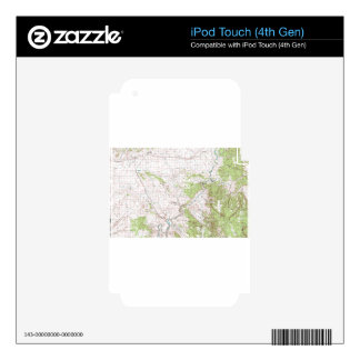 Topographic Map iPod Touch 4G Skins
