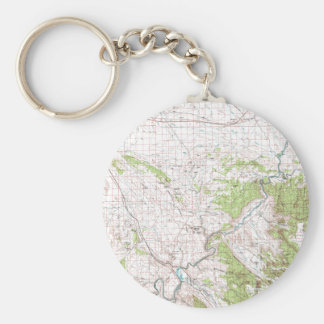 Topographic Map Keychain
