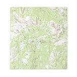 Topographic Map Memo Note Pad