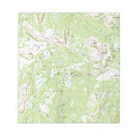 Topographic Map Memo Notepad