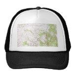 Topographic Map Mesh Hats