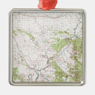 Topographic Map Metal Ornament