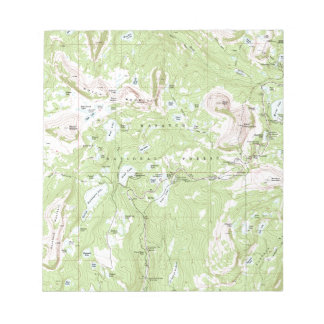 Topographic Map Notepad