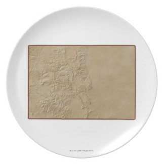 Topographic Map of Colorado 2 Plate