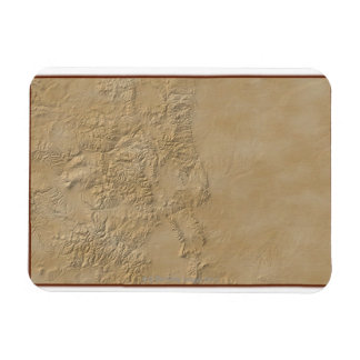 Topographic Map of Colorado 2 Rectangle Magnet