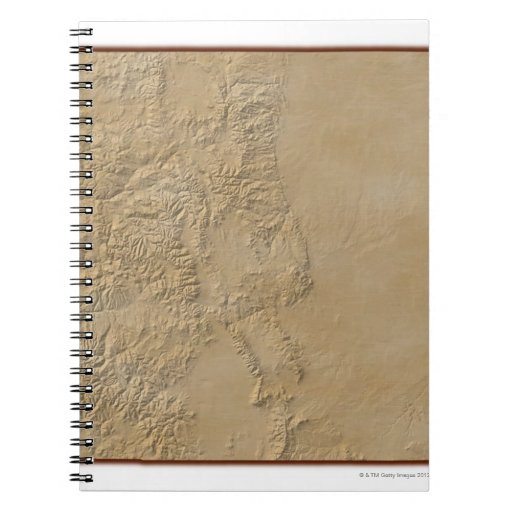 Topographic Map of Colorado 2 Spiral Note Book