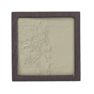Topographic Map of Colorado Gift Box