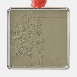 Topographic Map of Colorado Metal Ornament