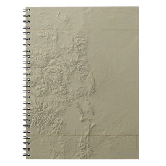 Topographic Map of Colorado Note Book