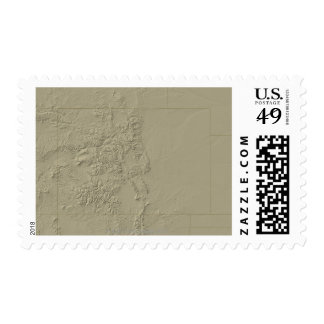 Topographic Map of Colorado Postage