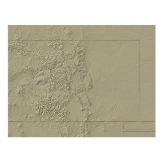 Topographic Map of Colorado Postcard