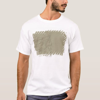 Topographic Map of Colorado T-Shirt