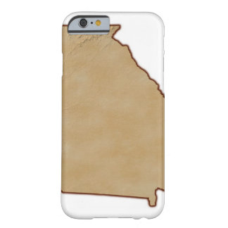 Topographic Map of Georgia Barely There iPhone 6 Case