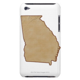 Topographic Map of Georgia iPod Touch Covers
