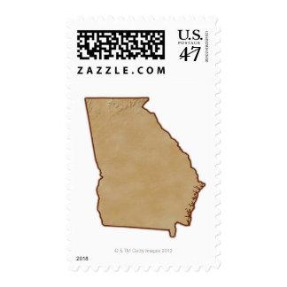 Topographic Map of Georgia Postage