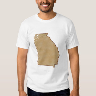 Topographic Map of Georgia T Shirt