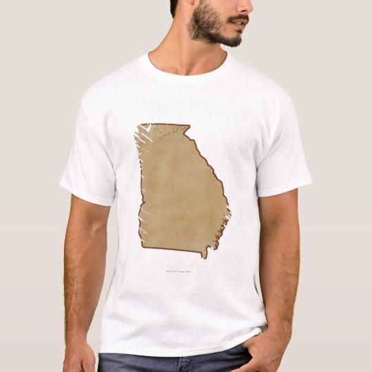 Topographic Map of Georgia T-Shirt