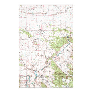 Topographic Map Stationery