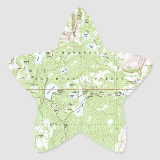 Topographic Map Star Sticker