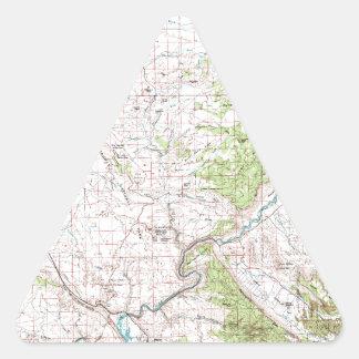 Topographic Map Triangle Sticker