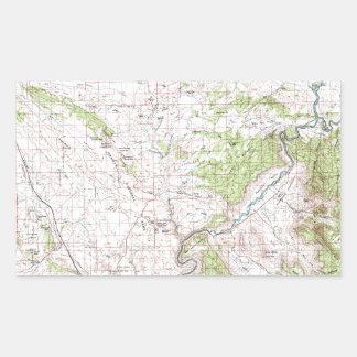 Topographic Map Rectangular Sticker