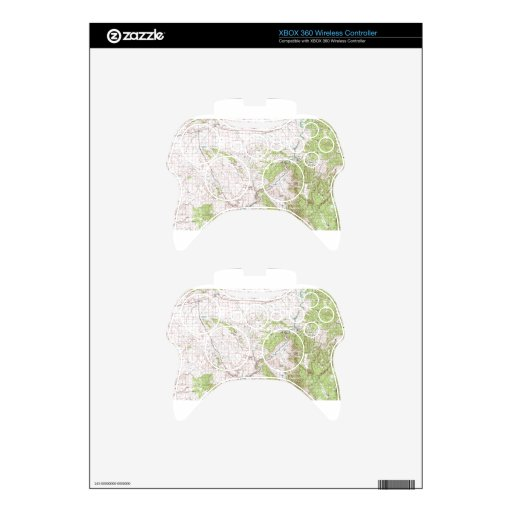 Topographic Map Xbox 360 Controller Skins
