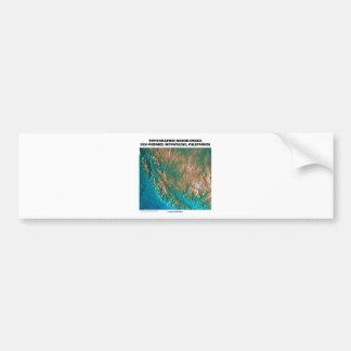 Topographic Radar Image San Gabriel Mtns, CA Bumper Sticker