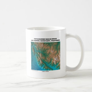 Topographic Radar Image San Gabriel Mtns, CA Coffee Mug