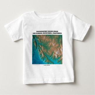 Topographic Radar Image San Gabriel Mtns, CA Tee Shirt