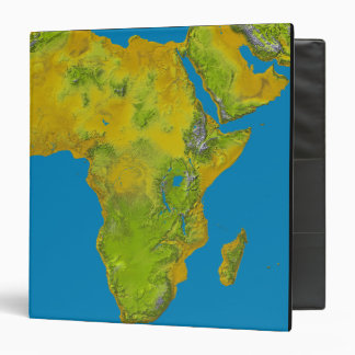 Topographic view of Africa Binder