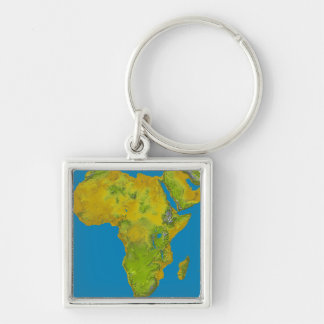 Topographic view of Africa Keychain