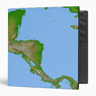 Topographic view of Central America Binder
