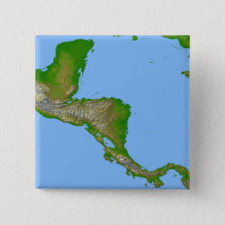 Topographic view of Central America Button