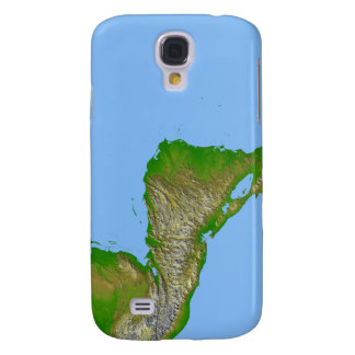 Topographic view of Central America Galaxy S4 Cover